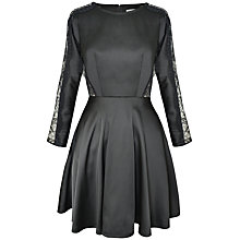 Buy Paisie Skater Dress, Black Online at johnlewis.com