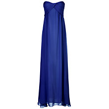 Buy True Decadence Ruched Bandeau Maxi, Navy Online at johnlewis.com