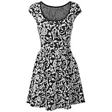 Buy True Decadence Skater Dress, Black Floral Online at johnlewis.com