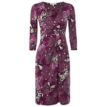 Buy White Stuff Winning 3/4 Sleeve Dress, Chinese Pink Online at johnlewis.com