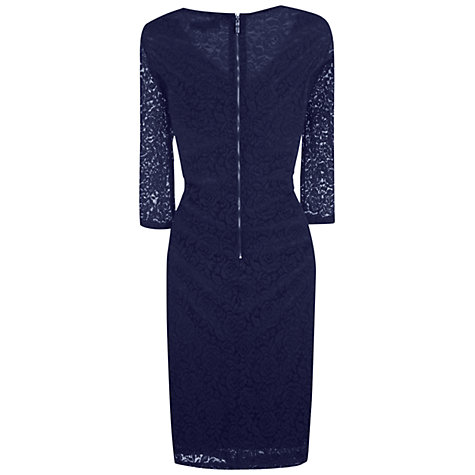 Buy True Decadence Lace Layer Midi Dress, Navy Online at johnlewis.com