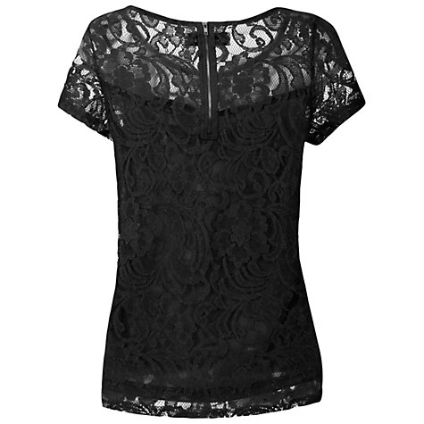 Buy True Decadence Luxe Lace T-shirt, Black Online at johnlewis.com