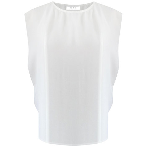 Buy Paisie Open Sleeve Chiffon Top, White Online at johnlewis.com