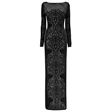 Buy Phase Eight Valonia Velvet Dress, Black Online at johnlewis.com