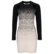 Buy French Connection Ombre Dust Dress, Cream/Black Online at johnlewis.com