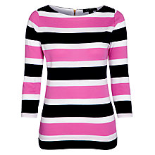 Buy Lauren by Ralph Lauren Crew Stripe Top, Capri Navy/Red Online at johnlewis.com