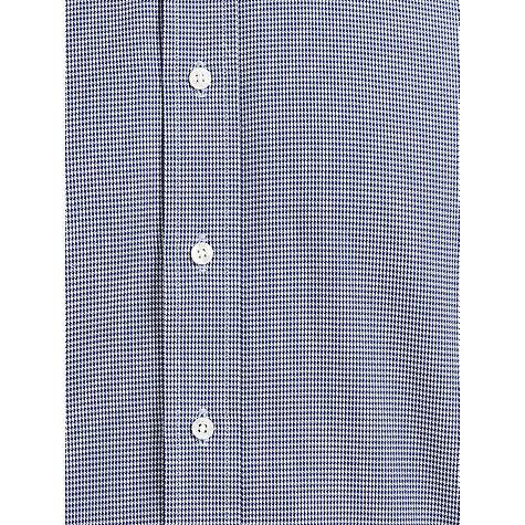Buy Paul Costelloe Puppytooth Long Sleeve Shirt, Navy Online at johnlewis.com