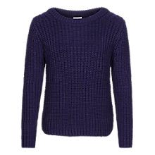 Buy Reiss Davidson Chunky Knit, Navy Online at johnlewis.com