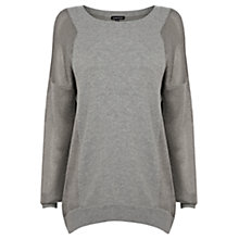 Buy Warehouse Sparkle Sleeve Jumper, Dark Grey Online at johnlewis.com