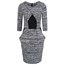 Buy French Connection Space Dye Dress, Grey Space Dye/Black Online at johnlewis.com