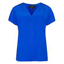 Buy Ted Baker Mayybel Embellished Neck Top, Mid Blue Online at johnlewis.com