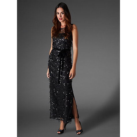 Buy Phase Eight Collection 8 Elecktra Sequin Dress, Black Online at johnlewis.com