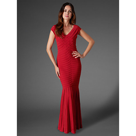 Buy Phase Eight Collection 8 Magherita Full Length Dress, Ruby Online at johnlewis.com