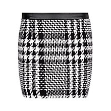 Buy Mango Prince of Wales Miniskirt, Black Online at johnlewis.com