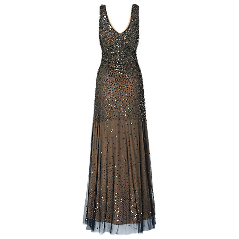Buy Phase Eight Collection 8 Mariana Sequin Full Length Dress, Black Online at johnlewis.com