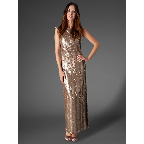 Buy Phase Eight Collection 8 Aretta Sequin Dress, Gold Online at johnlewis.com