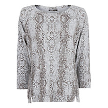 Buy Mango Textured Snakeskin Pattern Sweatshirt, Grey Online at johnlewis.com