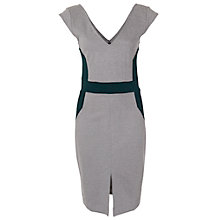 Buy French Connection Sandy Slouch Dress, Grey/Green Online at johnlewis.com
