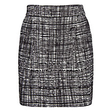 Buy Mango Two-Tone Jacquard Mini Skirt, Black Online at johnlewis.com