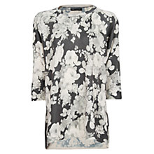 Buy Mango Floral Mohair Jumper, Black Online at johnlewis.com