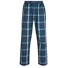 Buy Calvin Klein Woven Check Pyjama Pants, Blue Online at johnlewis.com