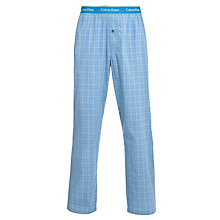 Buy Calvin Klein Terry Check Pyjama Pants, Blue Online at johnlewis.com