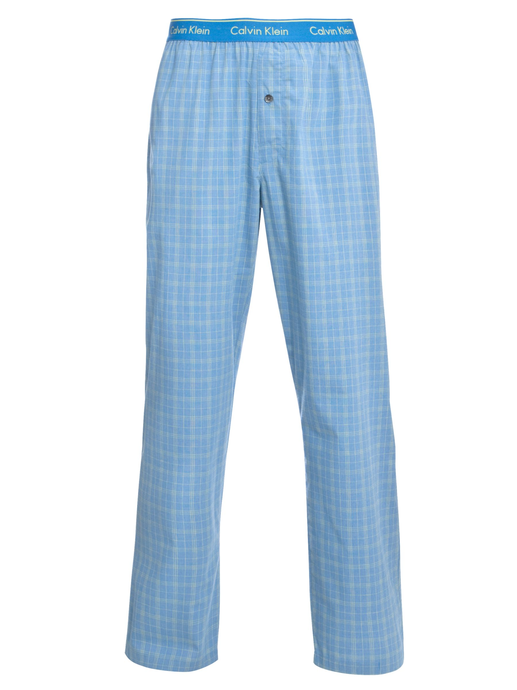 Calvin Klein Terry Check Pyjama Pants, Blue