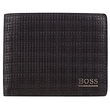 Buy BOSS Shandy Textured Leather Billfold Wallet, Black Online at johnlewis.com