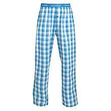 Buy Calvin Klein Woven Check Pyjama Pants, Blue/Green Online at johnlewis.com