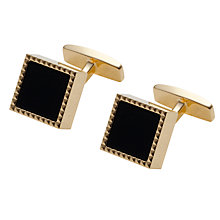 Buy BOSS Gisbo Cufflinks, Black/Gold Online at johnlewis.com