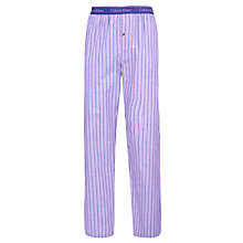 Buy Calvin Klein Brooks Stripe Pyjama Pants, Purple Online at johnlewis.com