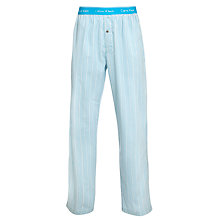Buy Calvin Klein Woven Micro Stripe Pyjama Pants, Turquoise/White Online at johnlewis.com