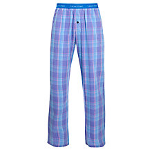 Buy Calvin Klein Crosby Check Pyjama Pants, Blue/Purple Online at johnlewis.com