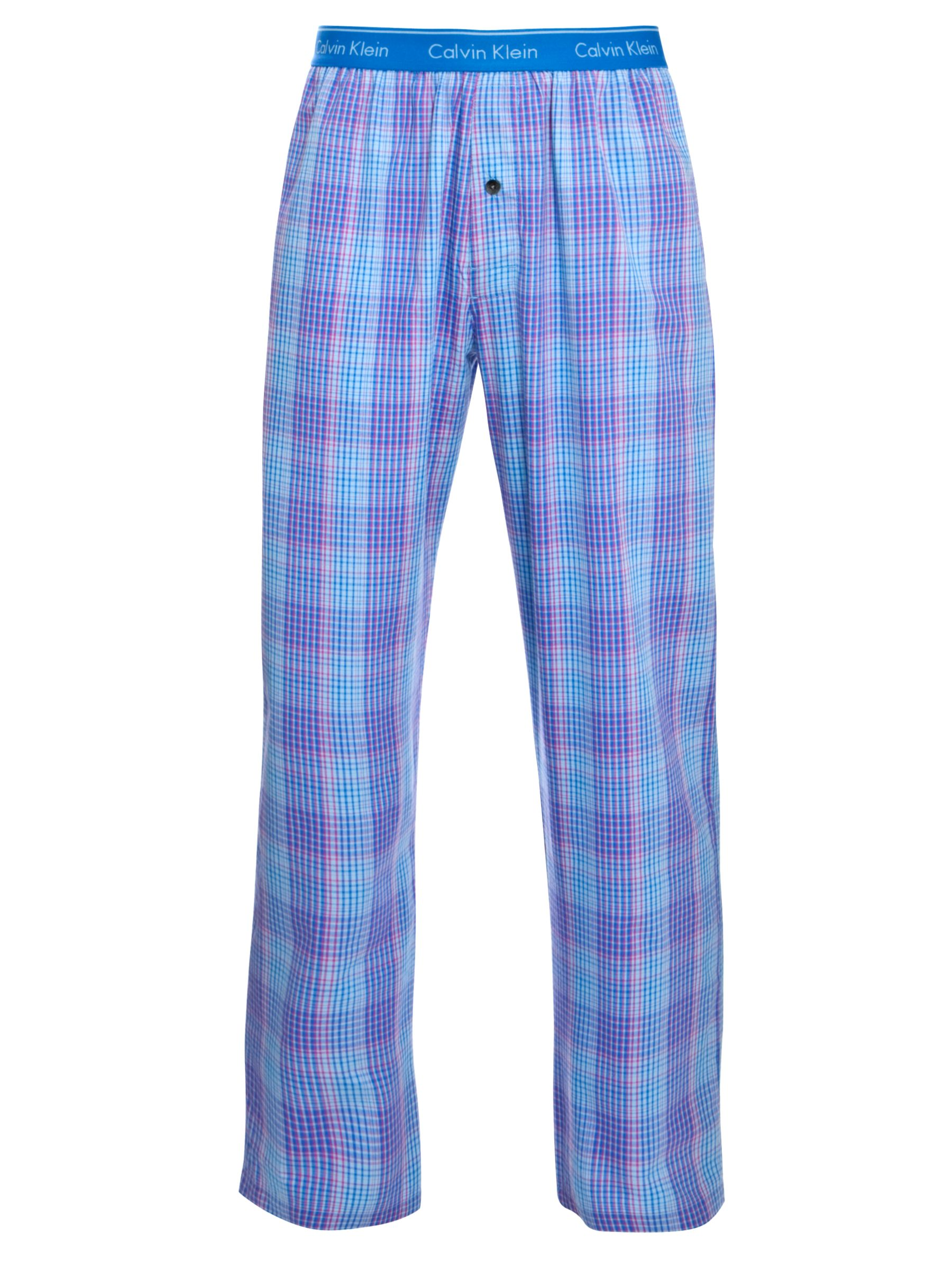 Calvin Klein Crosby Check Pyjama Pants, Blue/Purple