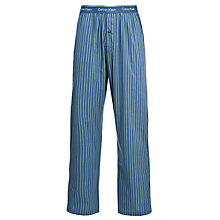 Buy Calvin Klein Woven Bulb Striped Lounge Pants, Blue Online at johnlewis.com