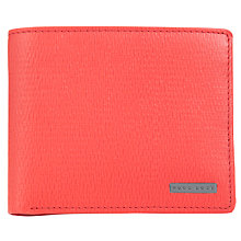 Buy BOSS London Leather Billfold Wallet, Red Online at johnlewis.com