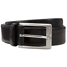 Buy BOSS Eberio Leather Belt, Black Online at johnlewis.com