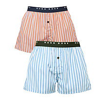 Buy BOSS Orange Stripe Boxers, Pack of 2, Blue/Orange Online at johnlewis.com