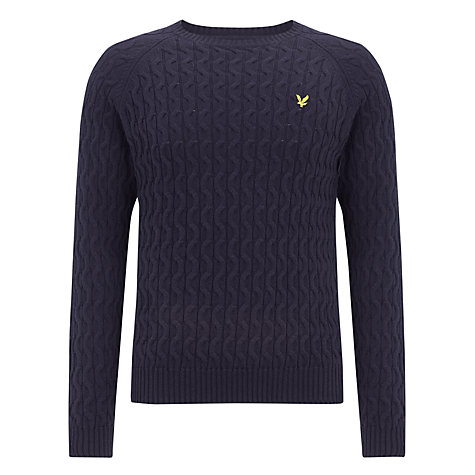Buy Lyle & Scott Cable Knit Cotton Jumper Online at johnlewis.com