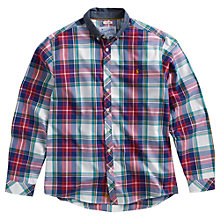 Buy Joules Lambert Long Sleeve Check Shirt, Red/Multi Online at johnlewis.com
