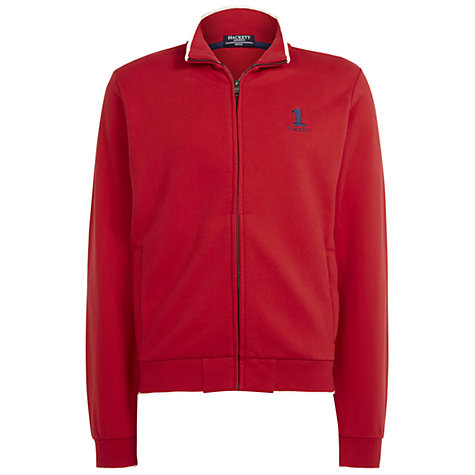 Buy Hackett London Number Tip Cardigan, Red Online at johnlewis.com