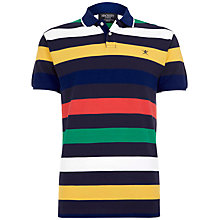 Buy Hackett London Multi Stripe Polo Top, Blue/Multi Online at johnlewis.com