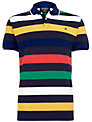 Hackett London Multi Stripe Polo Shirt, Blue/Multi
