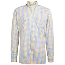 Buy Hackett London Brompton Two-Tone Shirt, Yellow/Blue Online at johnlewis.com