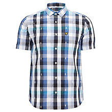 Buy Lyle & Scott Madras Check Shield-Print Shirt Online at johnlewis.com