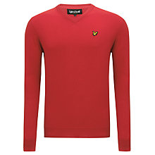 Buy Lyle & Scott V-Neck Cotton Jumper, Royal Red Online at johnlewis.com
