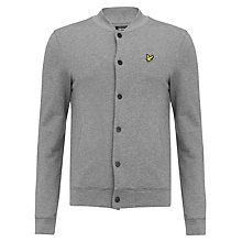 Buy Lyle & Scott Oxford Pique Jersey Bomber Jacket, Mid Grey Marl Online at johnlewis.com