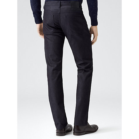Buy Reiss Macy Straight Fit Jeans, Navy Online at johnlewis.com