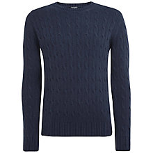Buy Hackett London Silk Cable Crew Neck Jumper Online at johnlewis.com