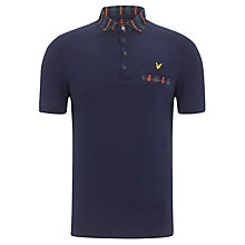 Buy Lyle & Scott Tartan Collar Polo Top, Old Navy Online at johnlewis.com